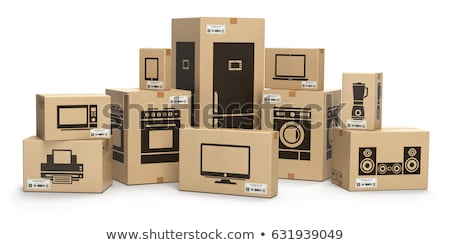 Household appliances in boxes. Stock photo © biv