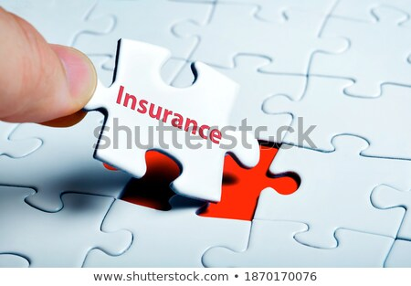 protection   puzzle on the place of missing pieces stock photo © tashatuvango