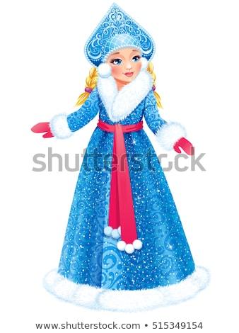Russian pretty girl Snow Maiden Stock photo © orensila
