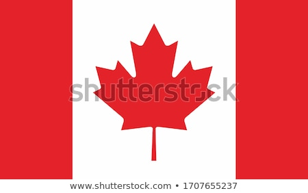 Canadá bandeira branco projeto assinar vermelho Foto stock © butenkow