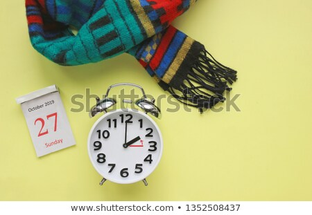 Closeup view of colorful alarm clock on white background. 2 O'Cl Stock photo © Nobilior