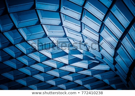 Abstract bouwkundig licht detail hangbrug mist Stockfoto © Kotenko