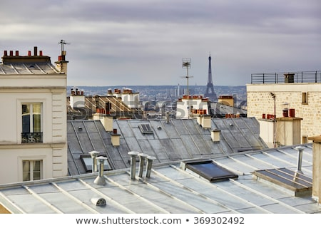 Эйфелева · башня · Париж · антенна · закат · Франция · небе - Сток-фото © dutourdumonde