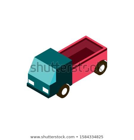 Commercial pickup truck isometric 3D element Stock photo © studioworkstock