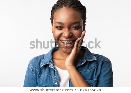 Smiling girl with brace Stock photo © IS2