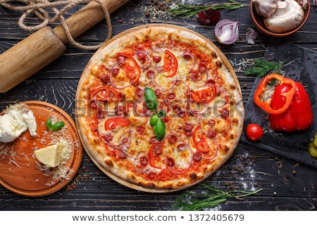 Pizza Preparation Elements Stock photo © lenm