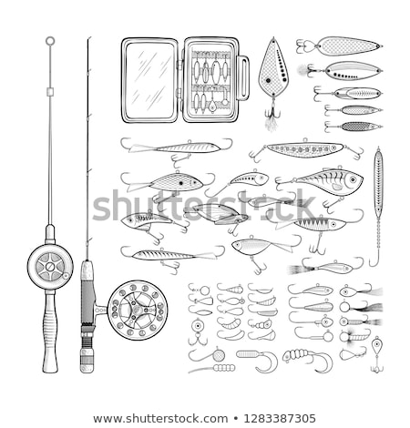 Fishing lures tackle collection minnows Stock photo © lunamarina