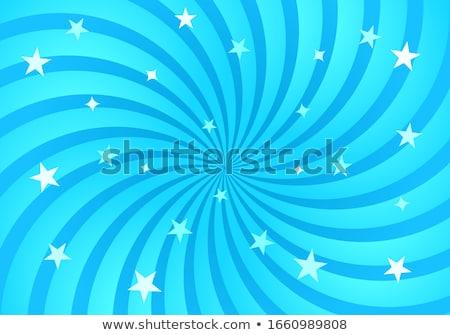 Stock photo: Blue Sunburst Background