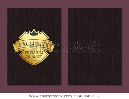 o · melhor · qualidade · prêmio · produto · dourado · promo - foto stock © robuart