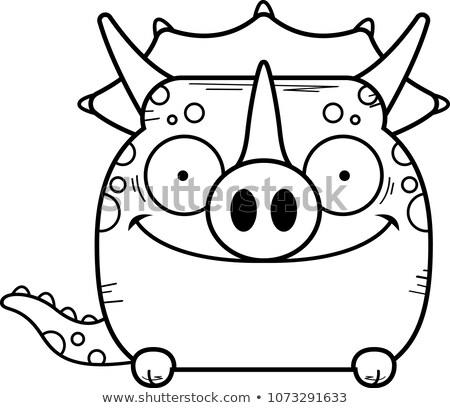 Cartoon illustratie weinig dinosaurus dier grafische Stockfoto © cthoman