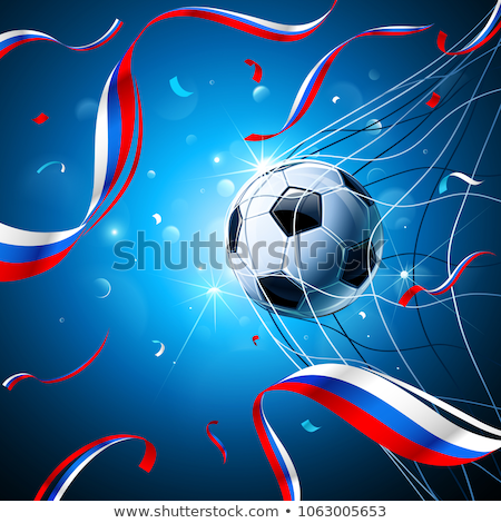 Rusland voetbal beker bal poster driekleur Stockfoto © robuart