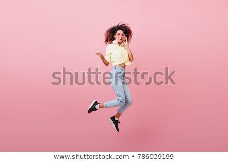 Spektakularny młodych pani stwarzające biały luksusowe Zdjęcia stock © acidgrey