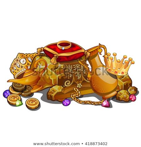 dourado · anel · vetor · arte · ilustração · mais - foto stock © robuart