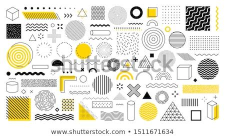 memphis style abstract circles background Stock photo © SArts