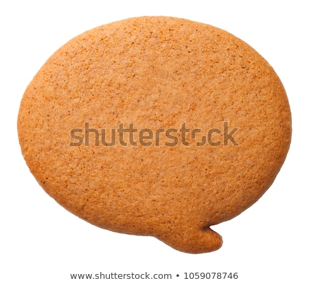 Gingerbread Speech Bubble Cookie Isolated on White Background Stock photo © Bozena_Fulawka