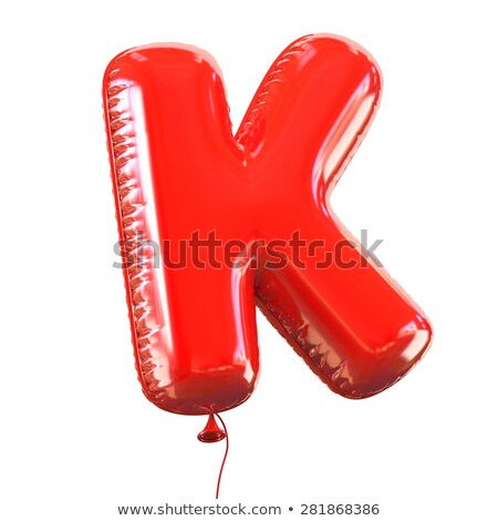 Red glossy font Letter K 3D Stock photo © djmilic