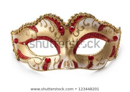 sarı · karnaval · maske · siyah · parti - stok fotoğraf © illia