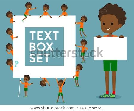 Type schooljongen vak ingesteld bericht kan Stockfoto © toyotoyo
