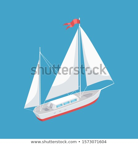 Modern Yacht Marine Nautical Personal Boat Icon Stock photo © robuart