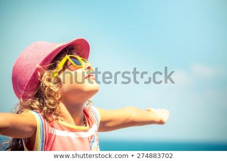 Happy child at the summer beach. Stock photo © Massonforstock