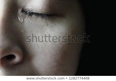 Przestraszony kobieta młoda kobieta oczy domu Zdjęcia stock © AndreyPopov