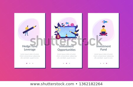 Investment fund app interface template. Stock photo © RAStudio