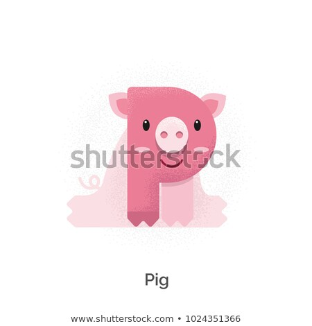 A letter P for pig Stock photo © colematt