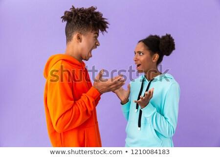 фото несчастный афроамериканец брат сестра Постоянный Сток-фото © deandrobot