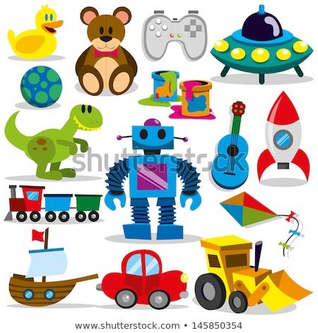 Boy and toys Stock photo © colematt