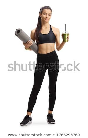 девушки соответствовать тело зеленый овощей Сток-фото © NeonShot