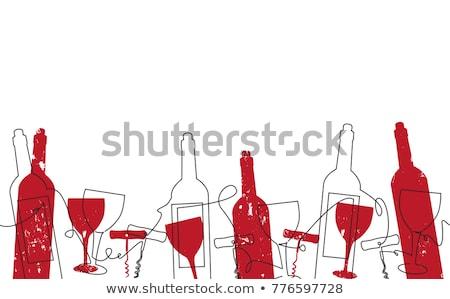 hand drawn pattern of wine stock photo © netkov1