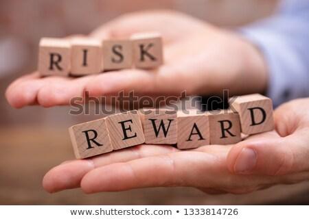 Imprenditore rischio blocchi primo piano mano Foto d'archivio © AndreyPopov