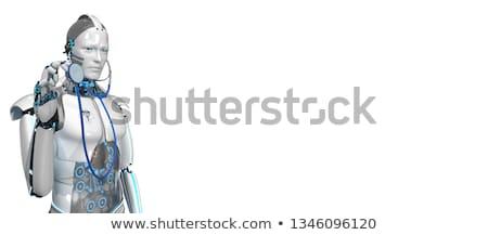 robot medical assistant clipboard ok stock photo © limbi007