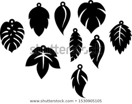 Stock fotó: Fülbevaló · grafikai · tervezés · sablon · vektor · izolált · illusztráció