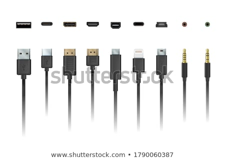 Smartphone Usb Plug Cable Connector Set Vector Foto d'archivio © pikepicture