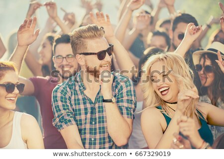 people dancing at sunset stock photo © adrenalina