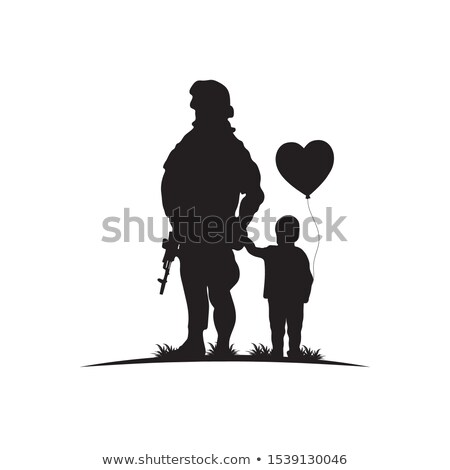 человека шаблон солдата нет лице изолированный Сток-фото © romvo
