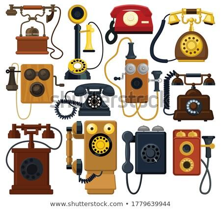 Set of old fashioned telephones Stock photo © bluering