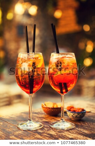 Glasses of Aperol Spritz cocktail Stock photo © Alex9500