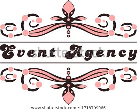 Vintage event agency emblems Stock photo © netkov1