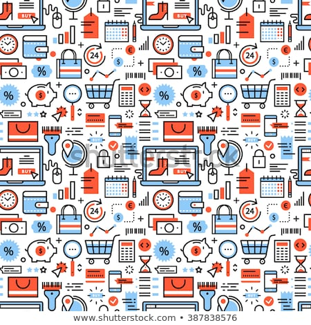 Online Transactions Vector Seamless Pattern Stock photo © pikepicture