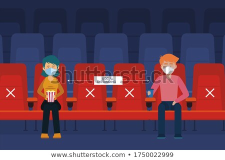 Cinema Hall, Movies Theater Worker and Viewers Stock photo © robuart