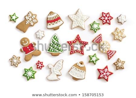 Christmas cookies and fir tree branch Stock photo © karandaev