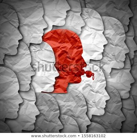 Identidade assobiar soprador símbolo pessoa governo Foto stock © Lightsource
