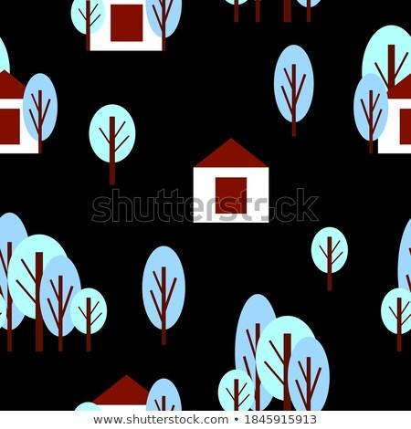 Vidék tél természet vektor stílusok rusztikus Stock fotó © frimufilms