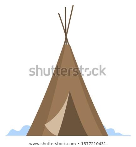 Gebouw noorden mensen huisvesting inheems gezinnen Stockfoto © robuart