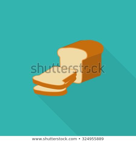ベクトル 白パン スライス コレクション 孤立した 白 ストックフォト © freesoulproduction