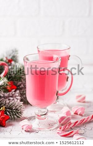 Robijn warme chocolademelk roze christmas drinken steeg Stockfoto © furmanphoto