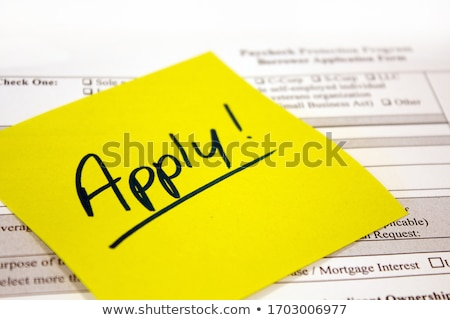 Paycheck Protection Program Application and Reminder Note Stock photo © enterlinedesign