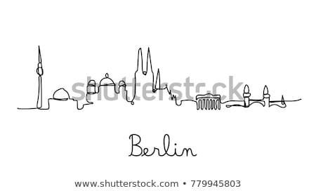 Berlin City skyline golden silhouette.  Stock photo © ShustrikS